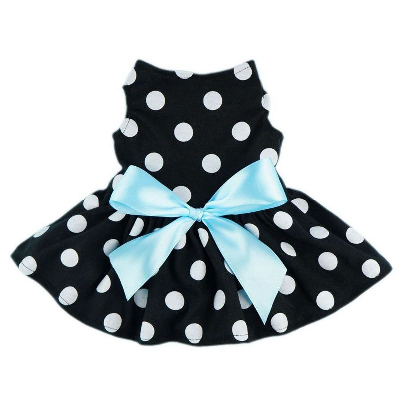 <font><b>Dog</b></font> <font><b>dress</b></font> Cute Polka Dot Ribbon <font><b>Dog</b></font> <font><b>Dress</b></font> <font><b>Dog</b></font> Clothes Cozy <font><b>Dog</b></font> Pet Bow tie <font><b>Dress</b></font> <font><b>XS</b></font> code image