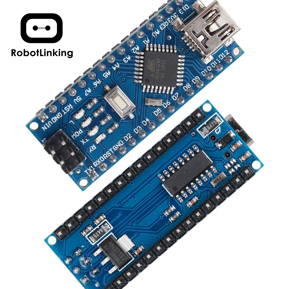 Image 2 - for Arduino Nano V3.0, Nano board ATmega328P 5V 16M Micro controller board with USB cable (Nano x 5 + cable)-in Integrated Circuits from Electronic Components & Supplies