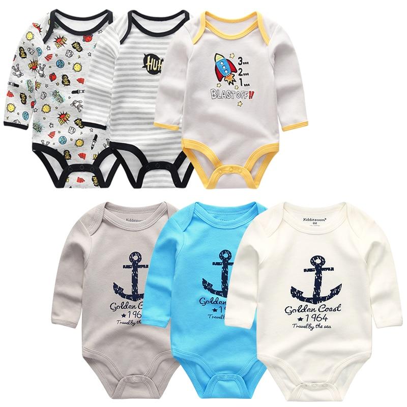 Kiddiezoom/Новинка для маленьких мальчиков Боди с длинными рукавами; Хлопковая одежда для маленьких мальчиков и девочек; Боди для новорожденных, bebe, infantil, одежда|Боди для малышек| | АлиЭкспресс