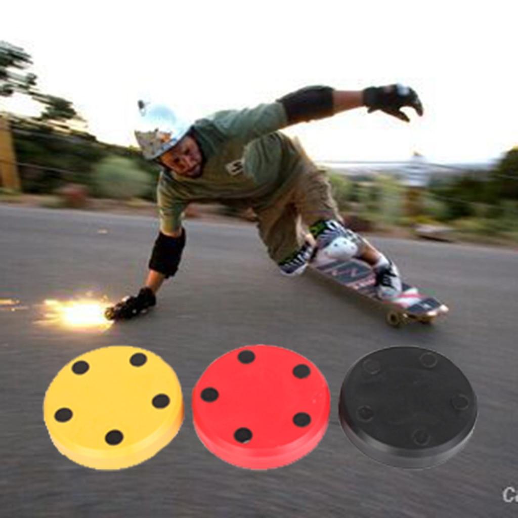 2pcs Slider Block With Firestones Super Cool Sparks Flames For Skateboard Longboard Sliding Gloves Palm Puck Hand Protection