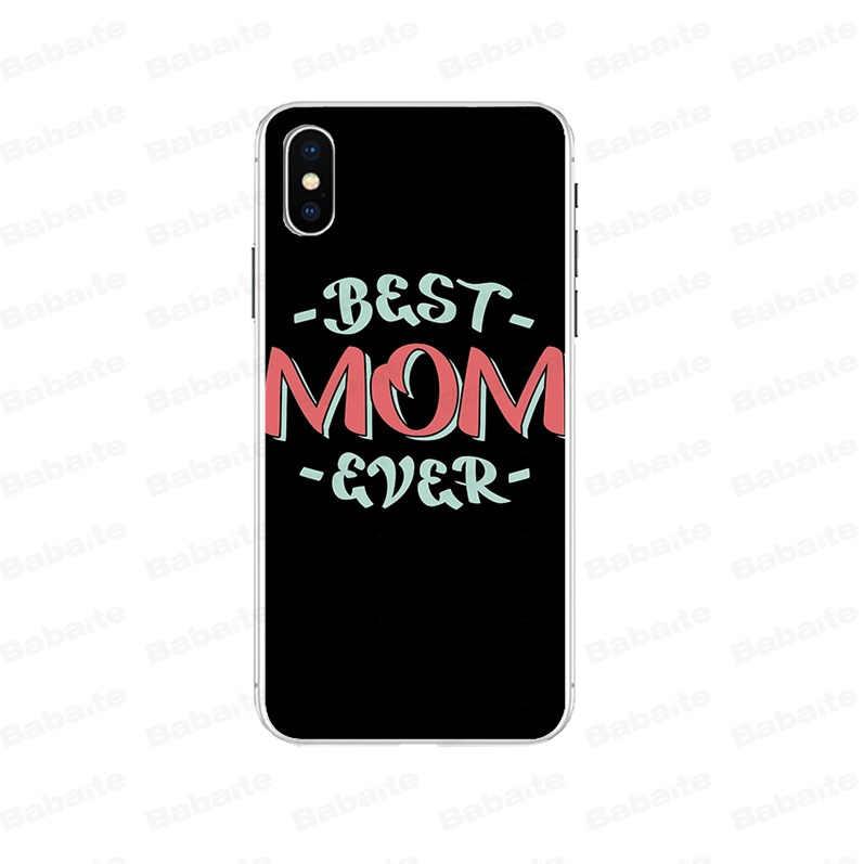 Babaite meilleure maman bricolage luxe haut de gamme protecteur étui pour iphone 7 7plusX XS MAX 6 6s 8 8Plus 5 5S SE XR couverture