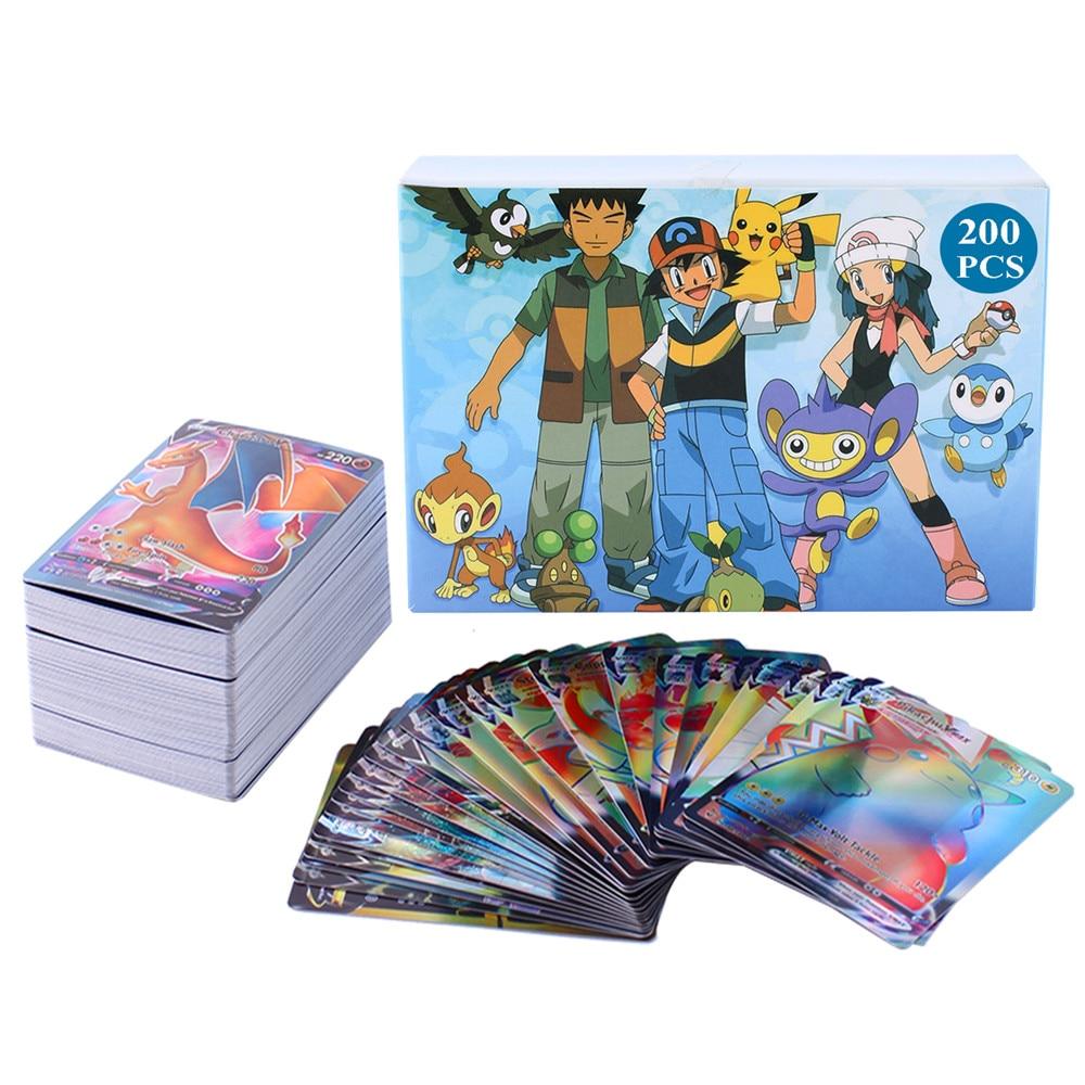 Cartas de Pokémon 200 V MAX 300 GX, juego de batalla para niños, versión en inglés, tensión vívida, brillante, Vmax TOMY