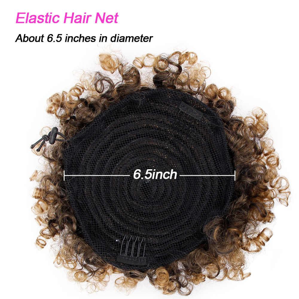 Pelo Rizado sintético Cola de Caballo Afro Americano corto Afro rizado Wrap sintético cordón Puff Pony cola extensiones de cabello