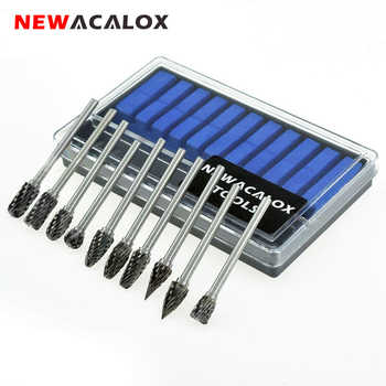 NEWACALOX 10pcs Dremel Carbide Burrs Drill Bit Set Rotary Burr Micro Drill Bits for Metal Woodworking Carving Tool Glass Diamond - DISCOUNT ITEM  48% OFF All Category