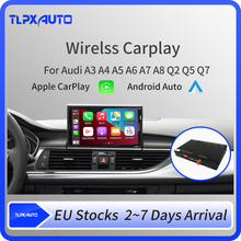 Wireless Apple Carplay box Android Auto Modul Für Audi A5 A4 A3 A6 A7 A8 Q2 Q3 Q5 Q7 OEM bildschirm Upgrade multimedia AirPlay