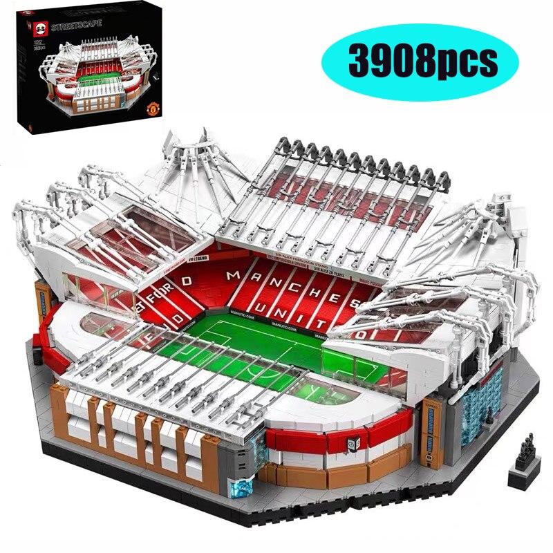 10272 Old Trafford Manchester 3908PCS Creator City Street View Model Building Kits Lepining Blocks Bricks Toys Kids Gift 10202