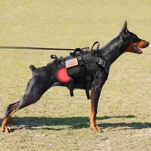 Image 3 - Duurzaam Nylon Hond Harnas Tactische Militaire K9 Werken Hond Vest Geen Pull Pet Training Harnassen Vest voor Medium Grote Honden M L