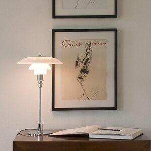 Nordic lâmpada de mesa vidro ph luz aço carbono luxo lâmpada led ao lado lâmpada para estudo escritório foyer quarto lâmpada leitura