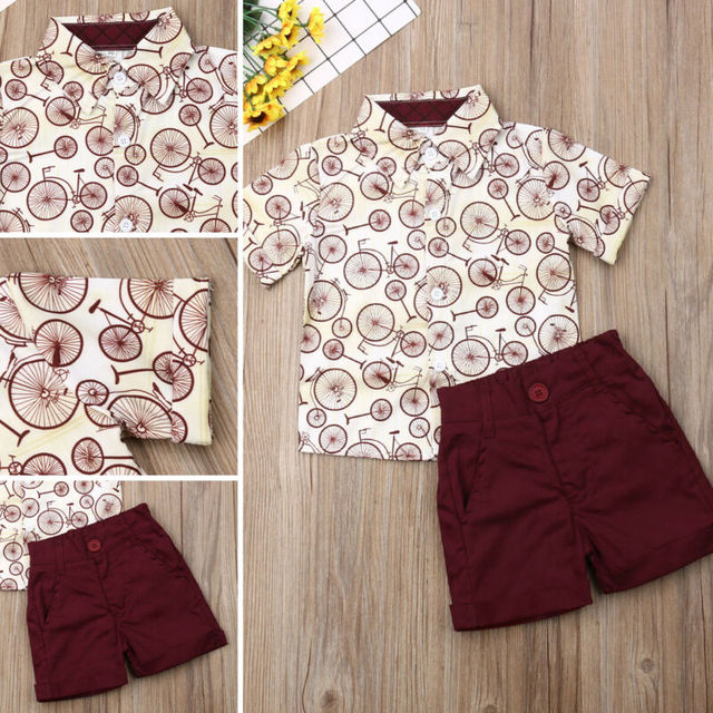 2019 lato nowe zestawy odzieżowe chłopiec bawełna dorywczo odzież dziecięca dziecko chłopcy sukienka koszulka + szorty spodnie 2 sztuk zestawy ubrań dla