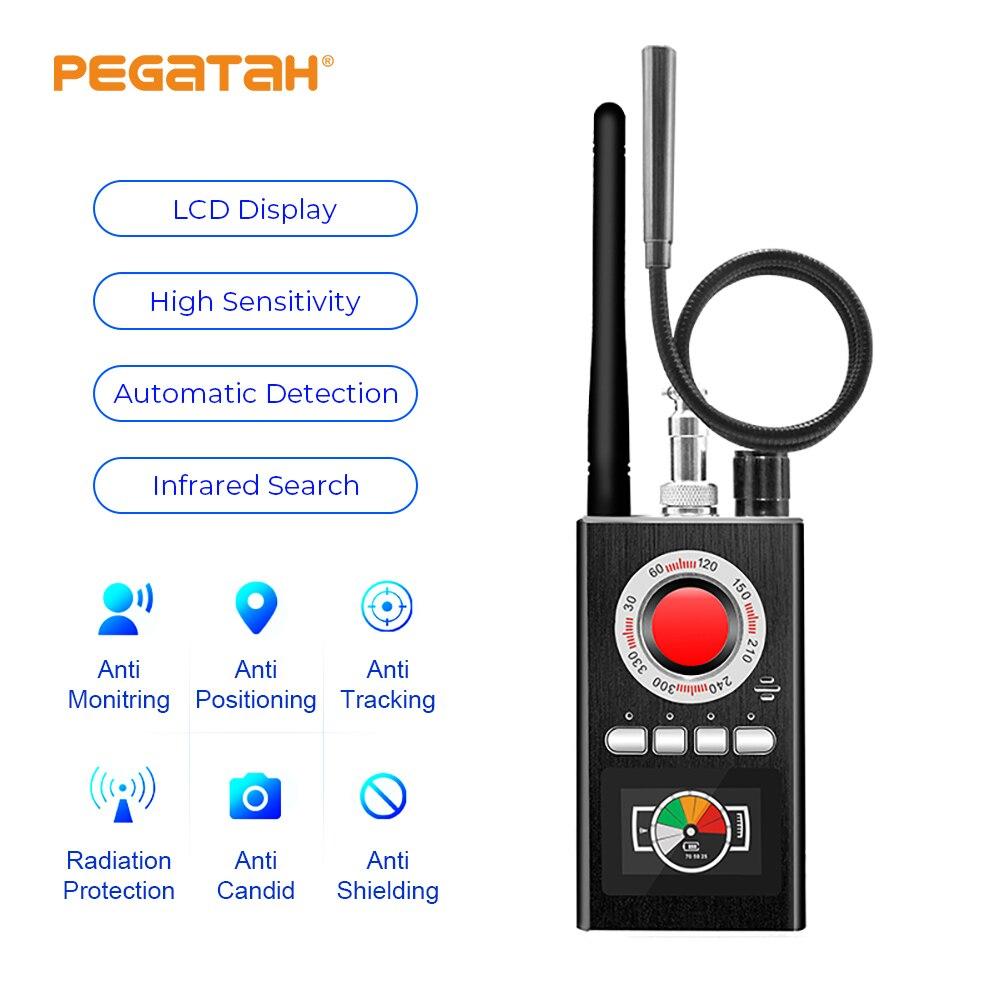 K88 multi-função ai anti candid detector de câmera led display sinal do caçador gps bug mini lente de sinal detectar gadgets sem fio