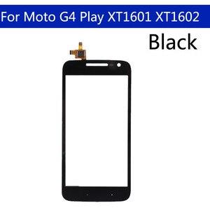 Image 2 - 10 sztuk dużo dla Motorola Moto G4 Play XT1601 XT1602 XT1603 XT1604 ekran dotykowy Digitizer przedni szklany panel wymienny czujnik