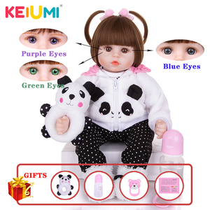 Limited Collection Reborn Baby Doll Cloth Body Stuffed Lifelike Babies Alive Doll Cosplay Panda Toy For Toddler Birthday Present