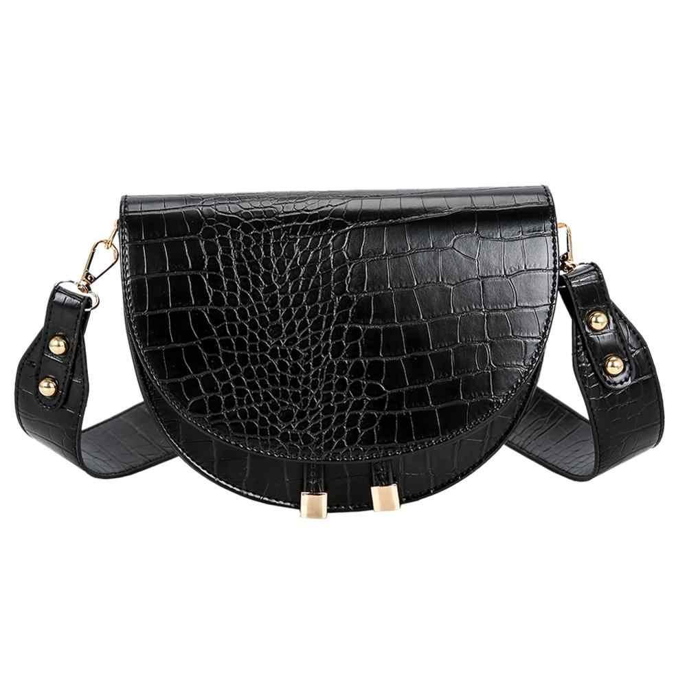 Luksusowy wzór krokodyla torby Crossbody dla kobiet 2020 moda nowa torba PU skórzane torebki torba na ramię sac main femme