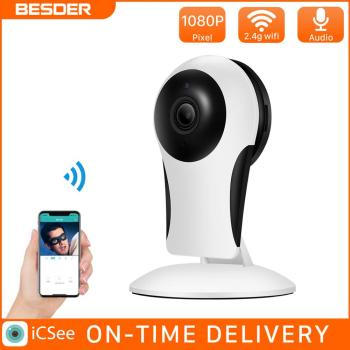 besder vr302 360° panoramic camera hd 960p ip camera wi fi two way audio with sd card slot indoor vr security camera wireless BESDER HD 960P WiFi IP Camera Home Camera Indoor IP Security Surveillance System With Night Vision Cloud Storage SD Card Slot