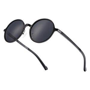 Image 5 - Barcur polarizado óculos de sol redondos de luxo marca masculina retro vintage feminino óculos uv400