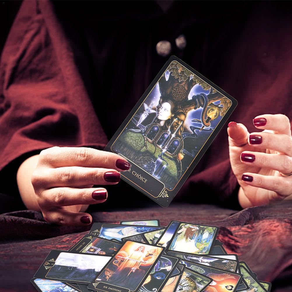 81pcs/ Set Gaia Tarot Tarot Cards English Funny Board Game Tarot Deck Card Games For Families Party Drop Ship