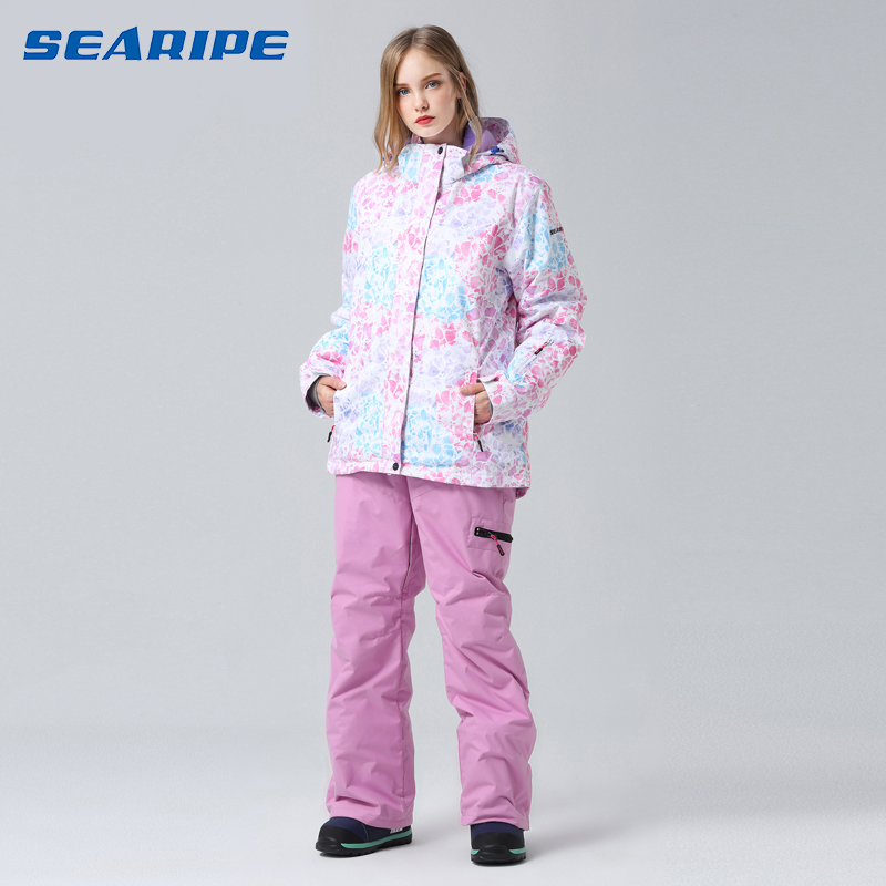 2019 Searipe Ski Suit Women Snowboard Suit Female Winter Suit Sport Skiing Snowboarding Set Snow Suit Ski Jacket Women Snow Pant