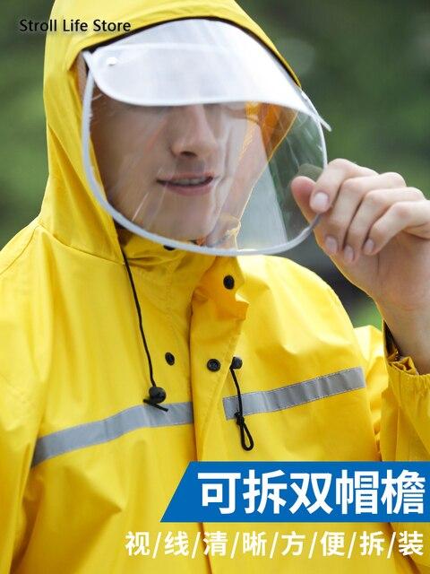 Adult Waterproof Rain Coat Pants Split Battery Motorcycle Raincoat Hiking Waterproof Suit for Fishing Breathable Chest Waders