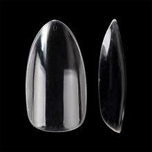 500 шт овальные накладные ногти с полным покрытием искусственный