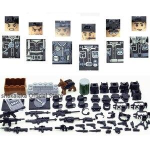 Image 2 - SWAT wojskowa armia WW2 helikopter siły specjalne zespół żołnierz CS klocki klocki figurki prezenty edukacyjne zabawki chłopcy zestaw
