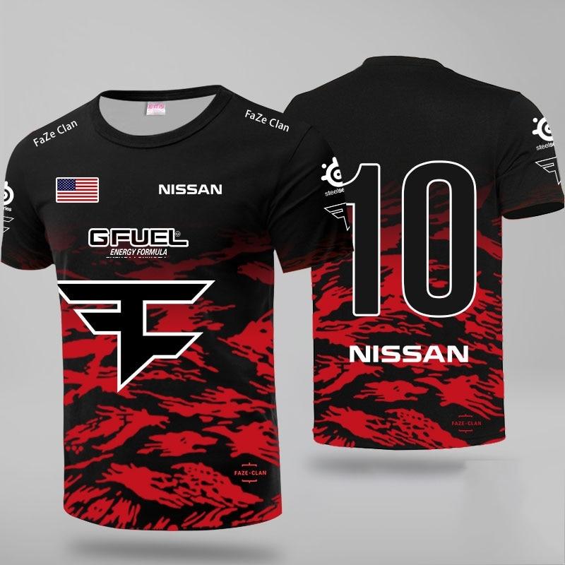 LOL CSGO Top Team Faze Uniform Jersey Tshirt Niko Fans T-shirt Men Women Faze Clan Custom ID T Shirts Rain Tee Shirt Custom Flag