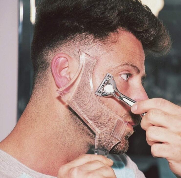 1Pc Men Beard Shaping Template Beards Comb Styling Shaper Hair Beard Trim Shaving Guide Tool Makeup Beauty Tool Gift