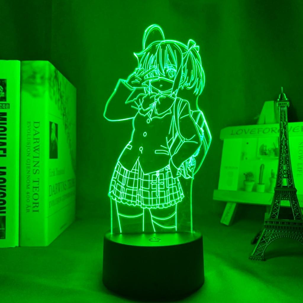 H9d7838c9f26a463bb03d2b6911190d6cW Luminária Rikka takanashi led night light para o quarto decoração nightlight presente de aniversário anime 3d lâmpada rikka amor chunibyo