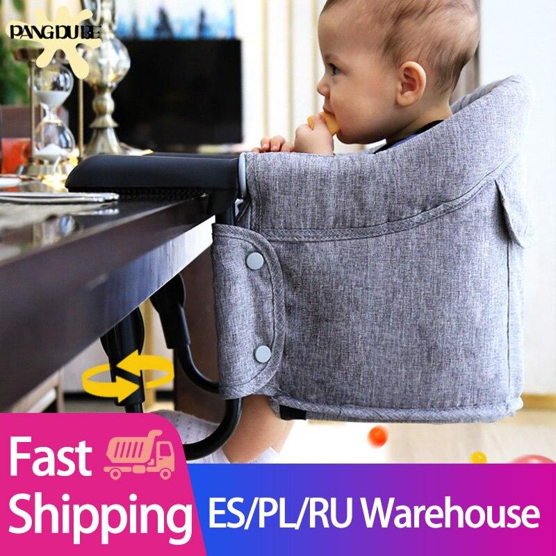 Portátil Cadeira Dobrável Cadeira de Alimentação Do Bebê Cinto de Segurança Do Assento Do Impulsionador Hook-on Arnês Cadeira de Jantar Infantil Almoço Almofada Mat
