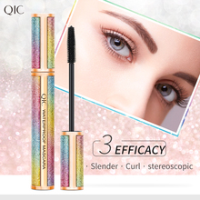 Starry-Mascara Eyelash-Extension Cosmetics Lengthening 4D Black Thick Waterproof Non-Blooming