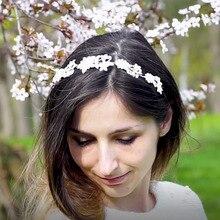 Bridal Wedding Accessories Crystal Hair Vine Tiara Silver Plated Bride Head Jewelry for Women