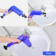 Dredge Plug Air Pump Pipe Plunger Toilet Drain Cleaner Blockage Remover Sewer Blockage Tool Household Mini Toilet Dredge