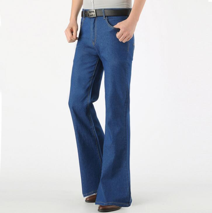Pantalones Vaqueros Acampanados Para Hombre Jeans Delgados Retro Nostalgicos Bootcut Vintage De Verano Pantalones Vaqueros Aliexpress