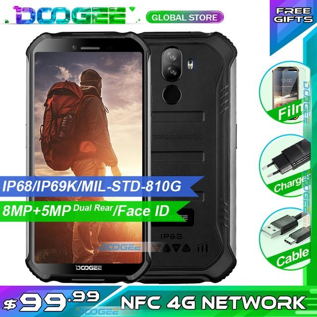 "3GB + 32GB DOOGEE S40 5.5 ""HD 4G רשת מחוספס נייד IP68 עמיד למים 4650mAh 8MP MT6739 אנדרואיד 9.0 עוגת Smartphone"