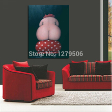 Large Canvas Painting Handpainted Figure Cartoon Oil Paintings Sexy Plump Women Hips Picture Modern painting Home Decor Wall Art