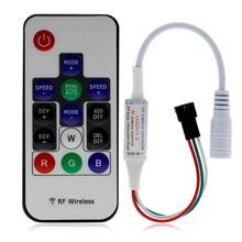 DC5~ 24 В мини пиксельный светильник-контроллер IR21key DC5-24V светодиодный пиксельный светильник-контроллер для IC полосы WS2811 WS2812 WS1903 2048 пикселей