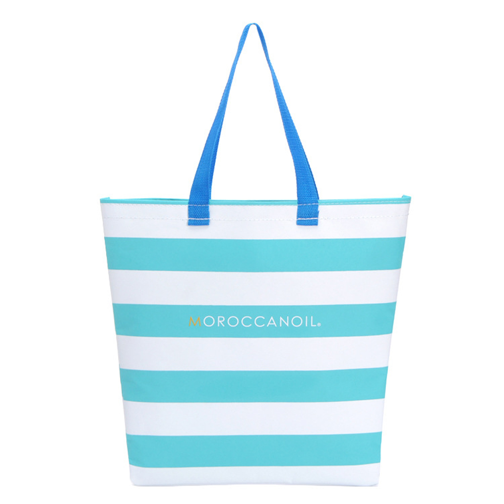 Wuli Seven New Fashion Stripe Tote Bag Casual Beach Handbag Eco Shopping Bag Waterproof Large-capacity Storage Shoulder Bag