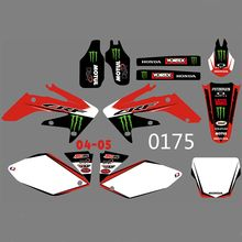 New Full Graphics Decals Stickers Custom Number Name Glossy Bright Stickers Waterproof for HONDA CRF250 CRF250R 2004 2005 h2cnc graphics decal sticker for honda crf250r crf250 2014 2016