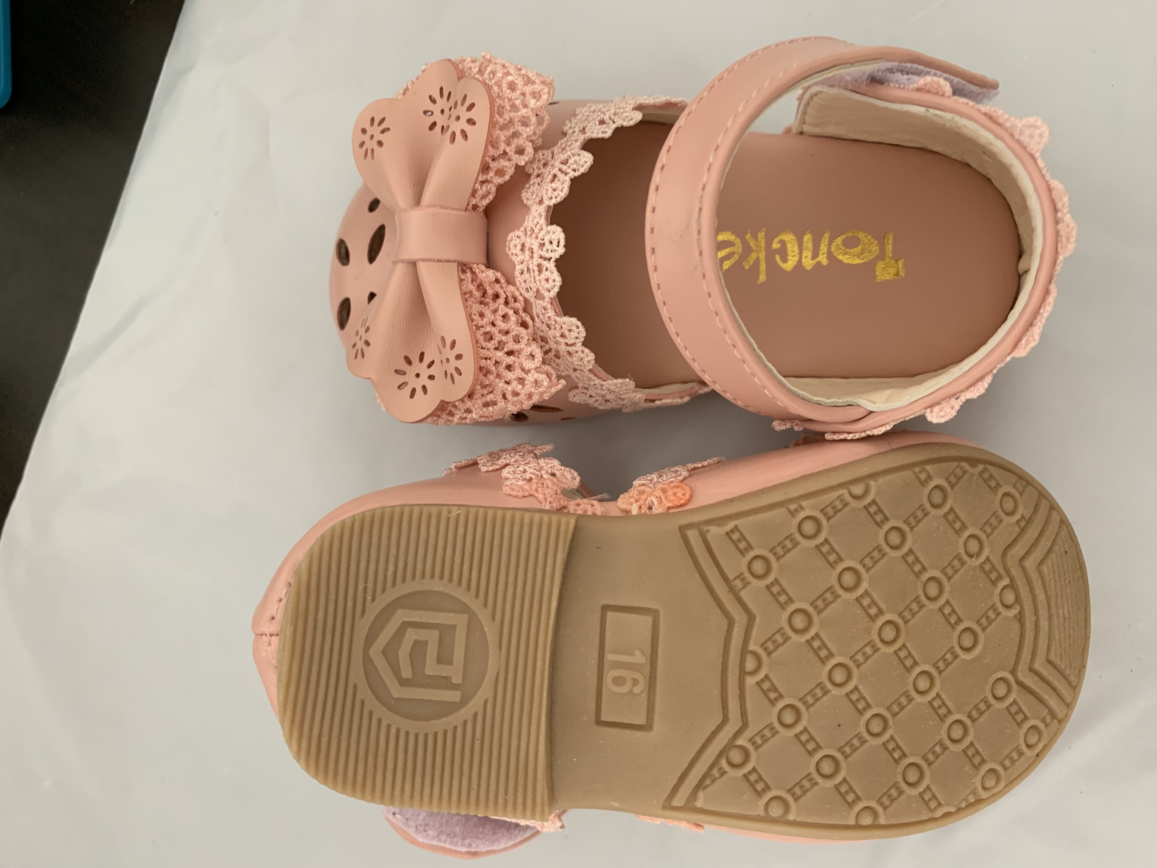 Newest Summer Kids Shoes 2020 Fashion Leathers Sweet Children Sandals For Girls Toddler Baby Breathable Hoolow Out Bow Shoes 6