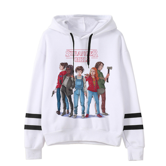 STRANGER THINGS THEMED STRIPED HOODIE (30 VARIAN)