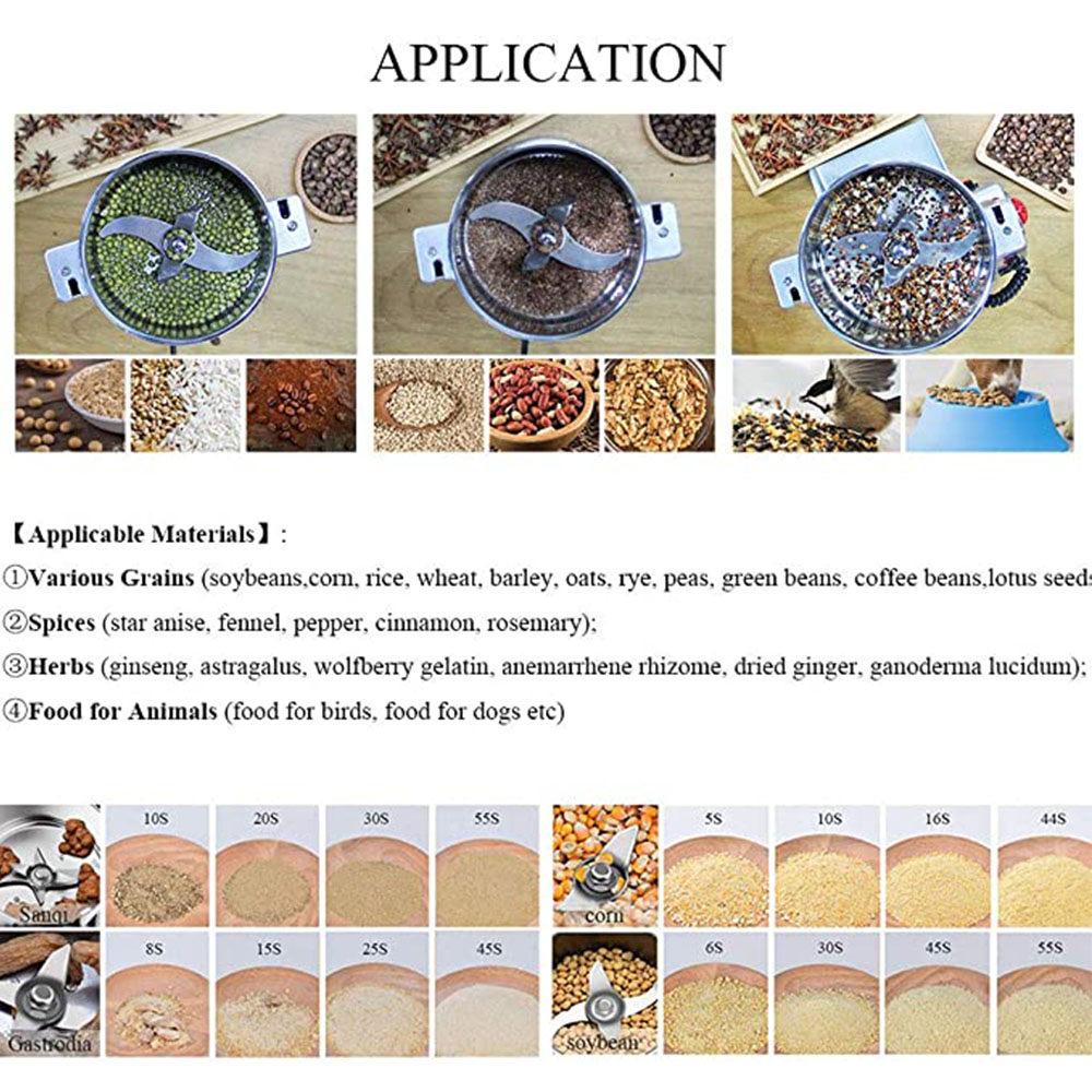 800g Electric Coffee Grinder Coffee Beans Nuts Spices Grain Herbal Powder Mixer Dry Food grinder Spices grains Crusher
