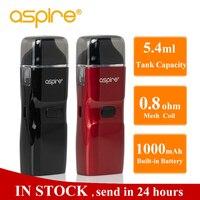 Aspire Breeze NXT Vape комплект 5,4 мл емкость Pod танк распылитель 0.8ом сетка катушка встроенный аккумулятор 1000 мАч комплект электронных сигарет