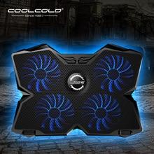 Кулер для ноутбука охлаждающая подставка под ноутбук Тетрадь игровой охладитель стенд с четыре вентилятора и 2 Порты usb для 14-17 дюймов ноутбука