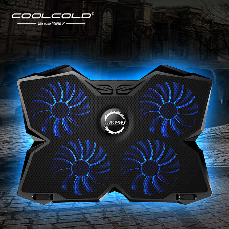 Laptop Koeler Laptop Cooling Pad Notebook Gaming Cooler Stand Met Vier Fan En 2 Usb-poorten Voor 14-17inch Laptop