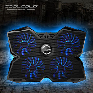 Laptop Cooler Laptop Cooling Pad Notebook Gaming Cooler Stand with Four Fan and 2 USB Ports for 14-17inch Laptop(China)