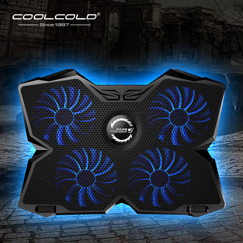 Laptop Cooler Laptop Cooling Pad Notebook Gaming Cooler Stand with Four Fan  and 2 USB Ports for 14 17inch Laptop|Laptop Cooling Pads| - AliExpress