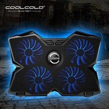 Laptop Koeler Laptop Cooling Pad Notebook Gaming Cooler Stand Met Vier Fan En 2 Usb poorten Voor 14 17inch Laptop