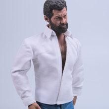 В наличии 1/6 масштаб белая классическая одежда модель для 12