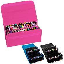 80 חריצים סמן נייד Case תיק מחזיק פאוץ עבור Copic סמן סקיצה עפרונות עפרונות עטי Fit בקוטר 15mm כדי 22mm