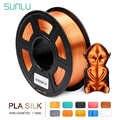 SUNLU шелковая PLA нить 1,75 мм 1 кг 3d принтер нить шелковая текстура 3d Печатный Материал Пластик PLA точность измерения +/-0,02