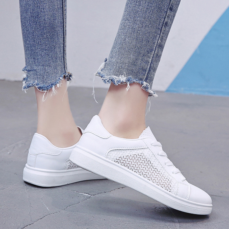 Sneakers Women Breathable Mesh Summer Autumn Women Causal Shoes Fashion White Leather Flat Walking Female Vulcanize Shoes VT1247 (5)